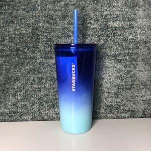 Starbucks Blue Ombre Glass Tumbler